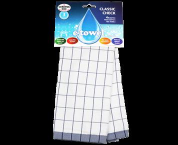 Кухонное полотенце Классическая клетка (синяя)