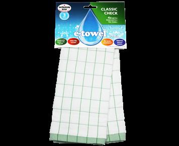 Кухонное полотенце Классическая клетка (зеленая)