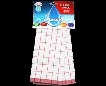 Кухонное полотенце Классическая клетка (красная)